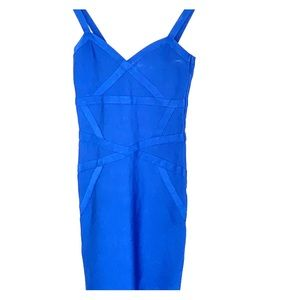 Bebe bandage dress blue